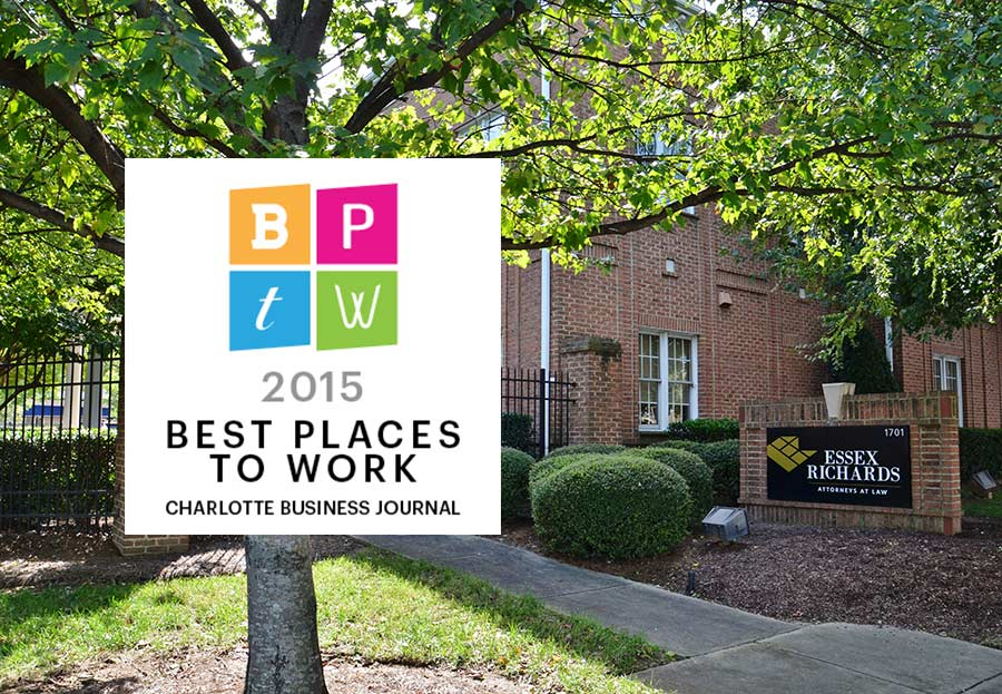 Essex Richards Law firm attorneys North Carolina best places to work 2-15